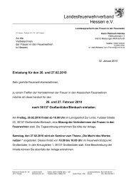 Landesfeuerwehrverband - Kreisfeuerwehrverband Fritzlar-Homberg