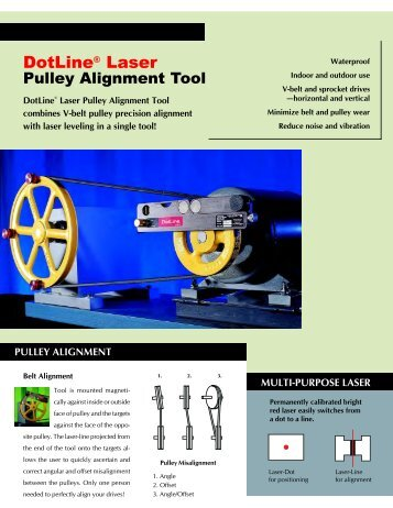 DotLine® Laser Pulley Alignment Tool - Heartland Industrial Solutions
