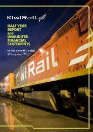 Half year report 31 Dec 2010 - KiwiRail