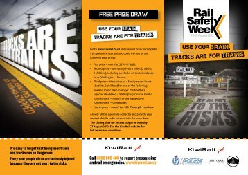 USe your brain, tracks are for trains. - KiwiRail