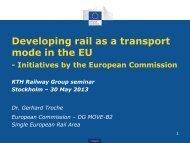 Developing rail as a transport mode in the EU - KTH