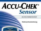 Accu-Chek Sensor 2004 Bedienungsanleitung | PDF-Dokument