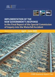 Waterfall quarterly report - Independent Transport Safety Regulator