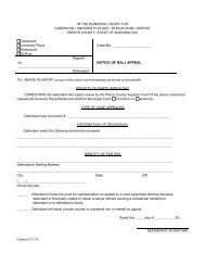 Notice of RALJ Appeal - City of Lakewood