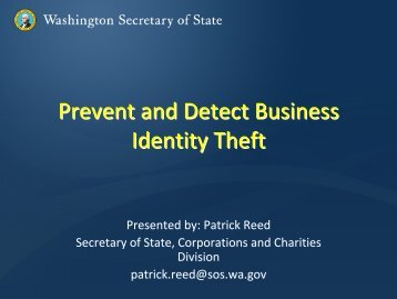 Business ID Theft by Patrick Reed - City of Lakewood