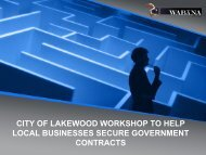 Steering Through The Federal Contracting Maze ... - City of Lakewood