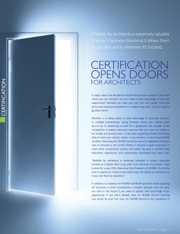 Certification Opens Doors for Architects - NCARB