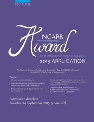 RULES OF CONDUCT - NCARB