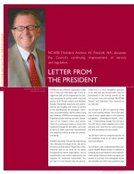 Letter From the President: Andrew W. Prescott, AIA - NCARB