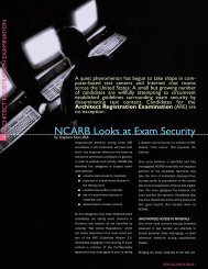 NCARB Looks at Exam Security
