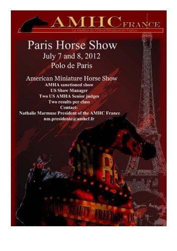 Paris Horse Show Premium List 2012 - amhcf.