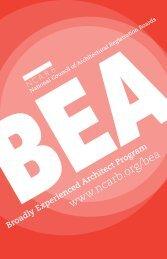 The BEA Program - NCARB