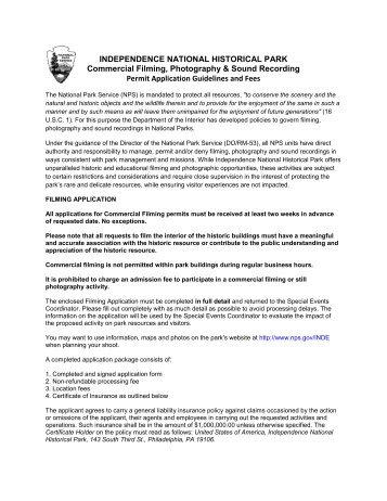 Other Media Application - Greater Philadelphia Film Office