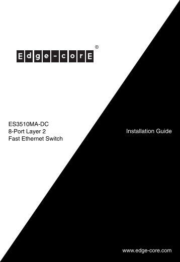 Installation Guide ES3510MA-DC 8-Port Layer 2 Fast Ethernet Switch