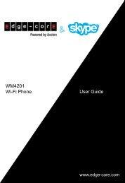 User Guide WM4201 Wi-Fi Phone - Edge-Core