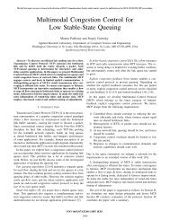 Multimodal Congestion Control for Low Stable-State Queuing