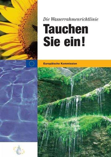 Die Wasserrahmenrichtlinie - Tauchen Sie ein! - Europa