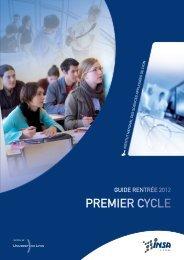 Guide Rentrée 2012 Premier Cycle - INSA de Lyon
