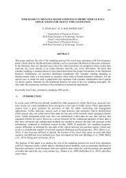 IMPLICATIONS FOR TRAVEL TIME ESTIMATION E. JENELIUS a, HN