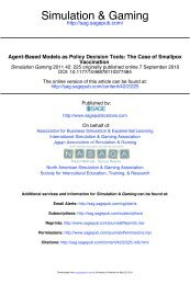 Agent-Based Models as Policy Decision Tools