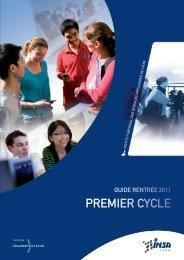 PREMIER CYCLE - INSA de Lyon