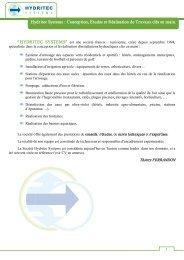 Hydritec Systems : Conception, Etudes et  Réalisation de Travaux ...