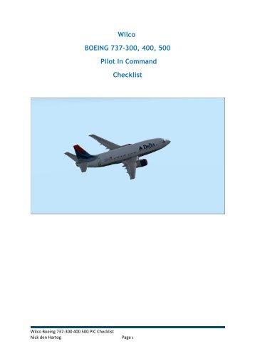 Wilco 737 manual