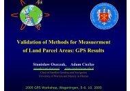 V lid i fM h d f M Validation ofMethods for Measuerment of Land ...