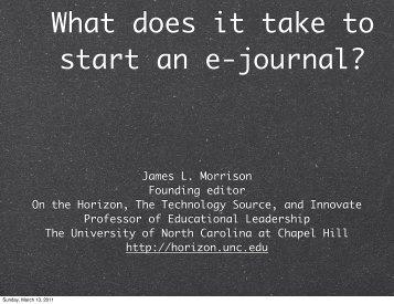 presentation - Horizon - The University of North Carolina at Chapel Hill