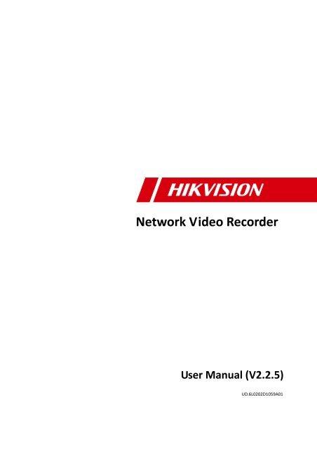 Network Video Recorder User Manual - GoCCTV