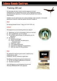 Training SK-net - Lobeco