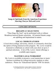 Songs & Spirituals from the American Experience Starring Cheryse ...