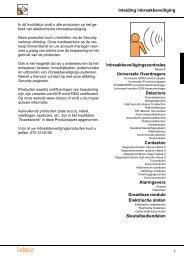 Inleiding inbraakbeveiliging Inbraakbeveiligingscentrales ... - Lobeco