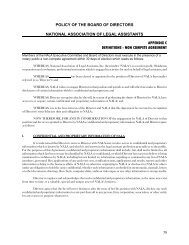 non compete agreement - National Association of Legal Assistants