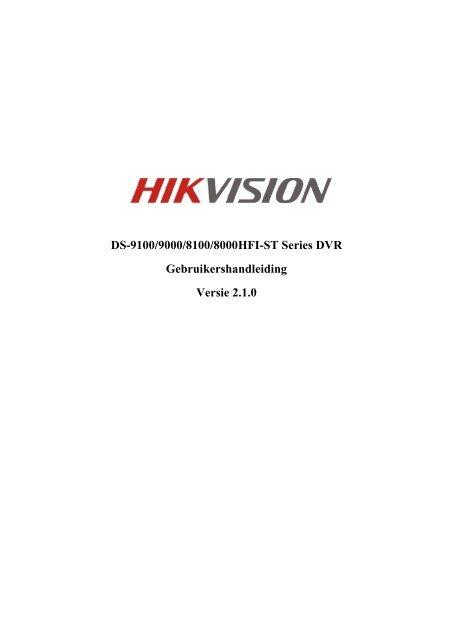 Gebruikershandleiding DS-9104HFI-ST - Lobeco