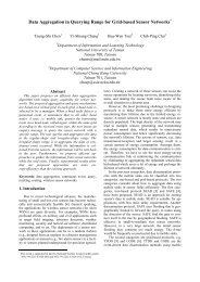 Data Aggregation in Querying Range for Grid ... - ACN Lab NCU