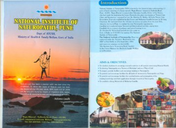 NIN Brochure English - National Institute of Naturopathy Pune