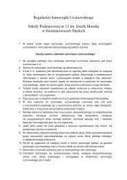 Regulamin Samorządu Uczniowskiego - Szkoła Podstawowa nr 13 ...