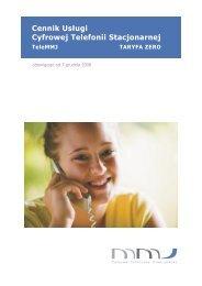 Cennik Kliencki ITC -Tele MMJ Taryfa ZERO z dn. 07.12.2008r.