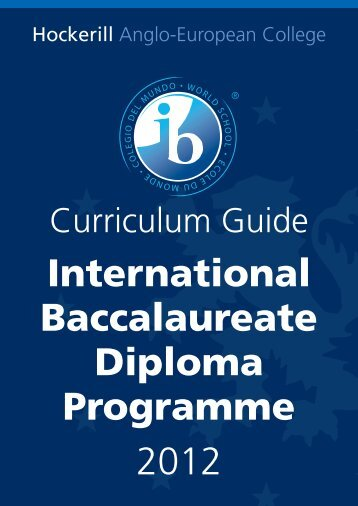 International Baccalaureate Diploma Programme 2012