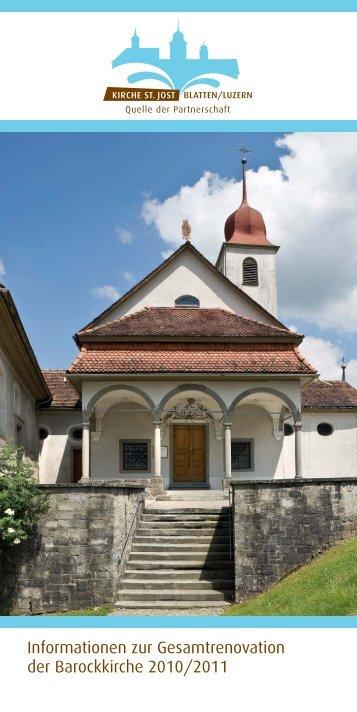 Informationen zur Gesamtrenovation der Barockkirche ... - St. Jost