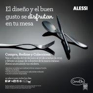 Campaña Continuidad Cubiertos Alessi