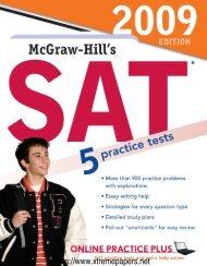 McGraw-Hill's SAT, 2009