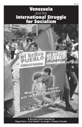 Venezuela International Struggle for Socialism - Reading from the Left