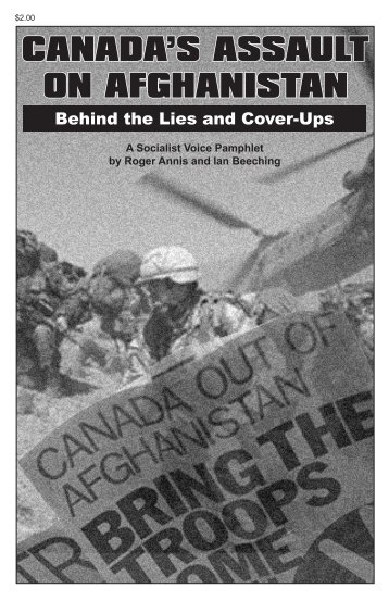 CANADA'S ASSAULT ON AFGHANISTAN - Reading from the Left