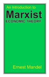 An Introduction to Marxist Economic Theory - Reading from the Left