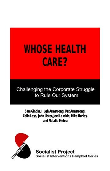 Whose Health Care? - Reading from the Left