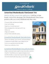 CertainTeed WeatherBoards FiberCement Trim - Cook County Lumber