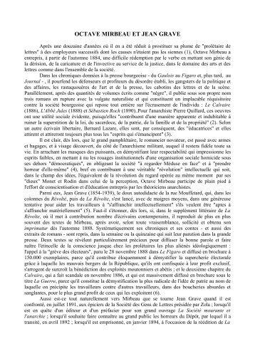 "MICHEL, Pierre, "" Mirbeau et Jean Grave "" - Octave Mirbeau"