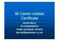 IB Career IB Career-related Certificate (IBCC)